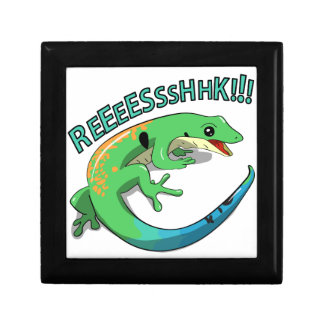Screaming Lizard Doodle Noodle Design Small Square Gift Box