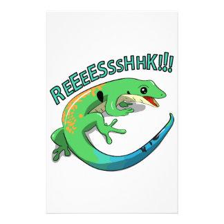 Screaming Lizard Doodle Noodle Design Stationery