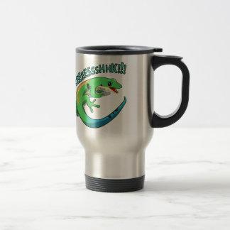Screaming Lizard Doodle Noodle Design Travel Mug
