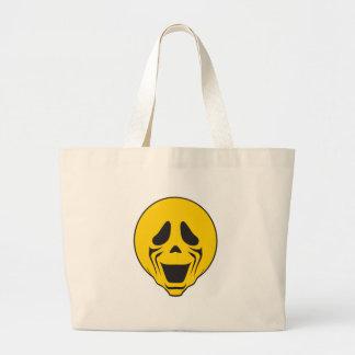 Screaming Scream Smiley Face Jumbo Tote Bag