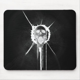 Screaming Skull (Black inverted) Mouse Pad