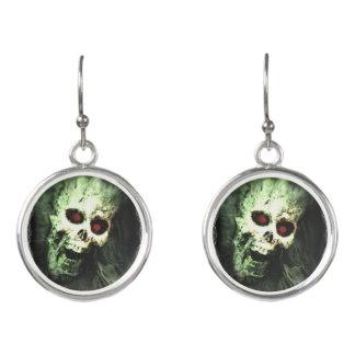 Screaming Skull Halloween Earrings