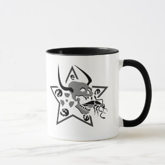 Screaming Skull Pentagram Mug