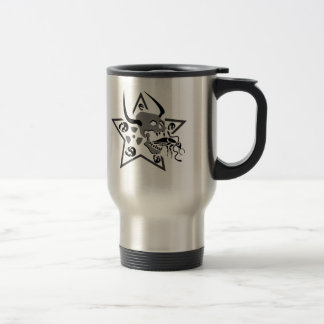 Screaming Skull Pentagram Travel Mug