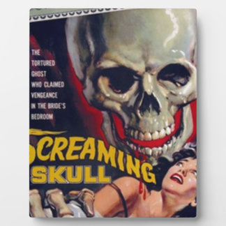 Screaming Skull Plaque