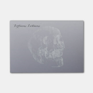 Screaming Skull Stormy Weather Post-it Notes