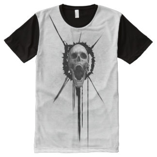 Screaming Skull (White) All-Over Print T-Shirt