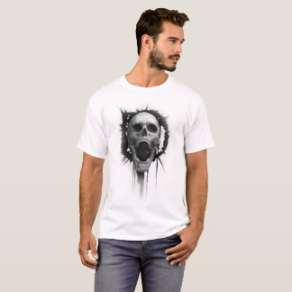 Screaming Skull (White) Tshirt