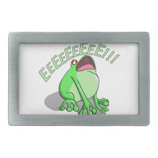 Screaming Tree Frog Doodle Noodle Design Belt Buckle