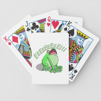 Screaming Tree Frog Doodle Noodle Design Bicycle Playing Cards