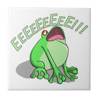 Screaming Tree Frog Doodle Noodle Design Ceramic Tile