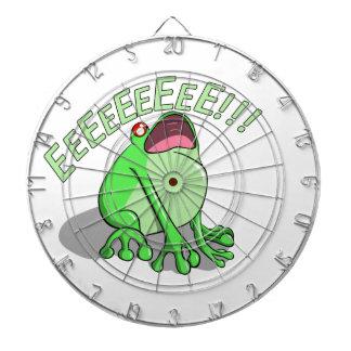 Screaming Tree Frog Doodle Noodle Design Dartboard
