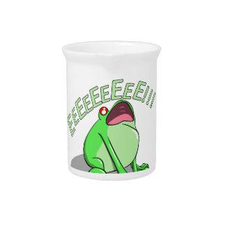 Screaming Tree Frog Doodle Noodle Design Drink Pitcher