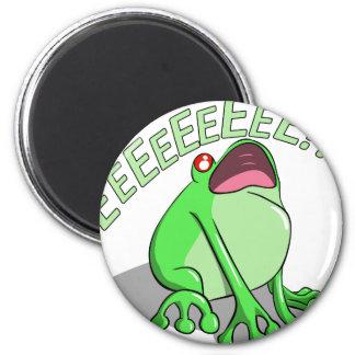 Screaming Tree Frog Doodle Noodle Design Magnet