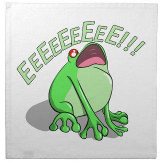Screaming Tree Frog Doodle Noodle Design Napkin