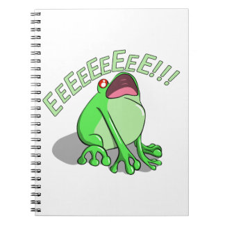 Screaming Tree Frog Doodle Noodle Design Notebook