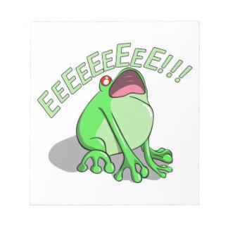 Screaming Tree Frog Doodle Noodle Design Notepads