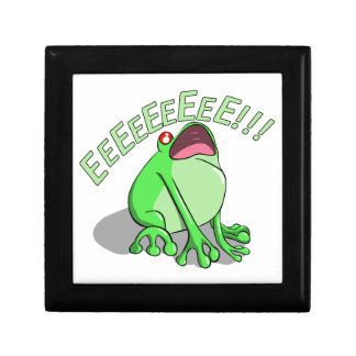 Screaming Tree Frog Doodle Noodle Design Small Square Gift Box