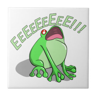 Screaming Tree Frog Doodle Noodle Design Small Square Tile