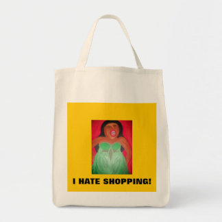 Screaming woman grocery tote bag