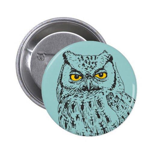 Screech Owl Pinback Buttons