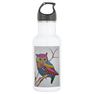 Screech Owl bold color 532 Ml Water Bottle