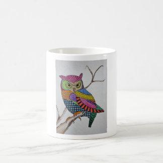 Screech Owl bold color Basic White Mug