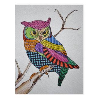 Screech Owl bold color Postcard