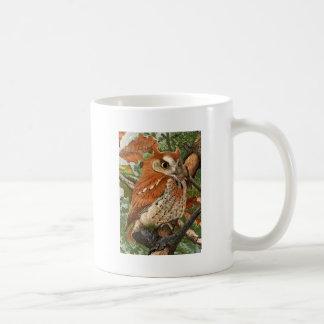 Screech Owl (brown phase) Basic White Mug