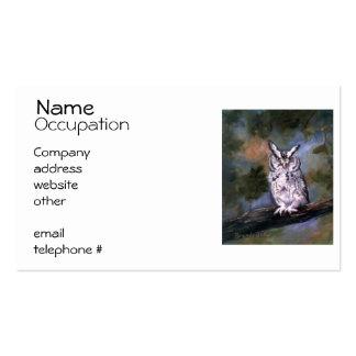 Screech Owl Pack Of Standard Business Cards