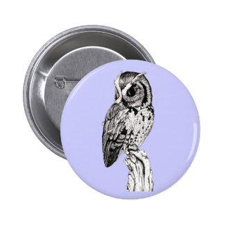 Screech Owl Button
