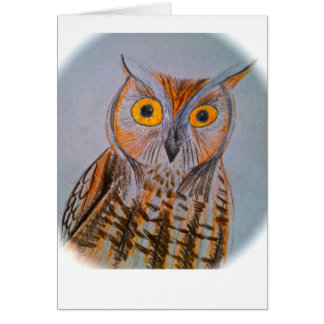 Screech owl stationery note card