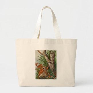 Screech Owl (color phases) Jumbo Tote Bag