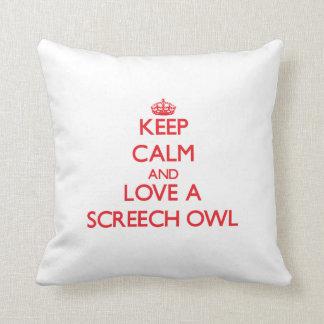 Screech Owl Throw Cushions