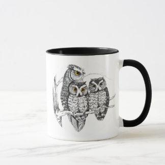Screech Owl Family Mug