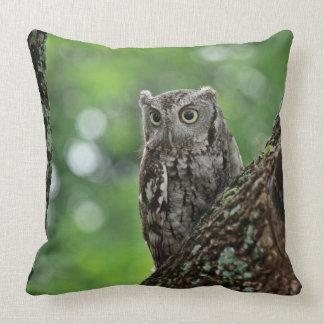 Screech Owl Personality Throw Pillow