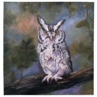 Screech Owl printed napkins