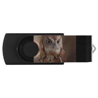 screech owl swivel USB 2.0 flash drive