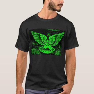 Screech Owl T-Shirt - Green and Black