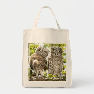 Screech Owls Chicks Grocery Tote Bag