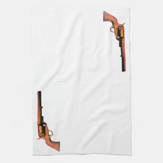 screen print gun tea towel