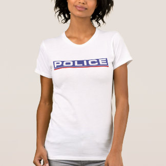 Screen printed national police force Woman T-shirts