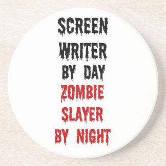 Screen Writer Zombie Slayer Coaster