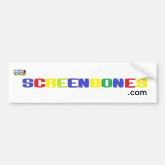 Screenbones com bumper sticker
