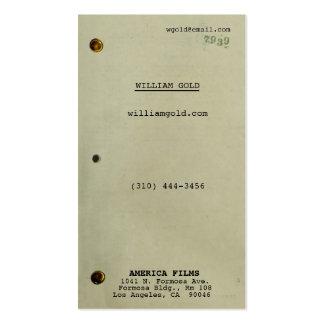 Screenplay Vintage Pack Of Standard Business Cards