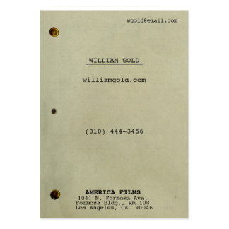 Screenplay Vintage Wide Business Cards