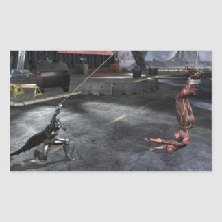 Screenshot: Batman vs Flash Rectangular Sticker