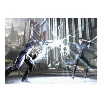 Screenshot: Cyborg vs Nightwing 4 13 Cm X 18 Cm Invitation Card