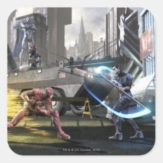 Screenshot: Flash vs Nightwing Square Sticker