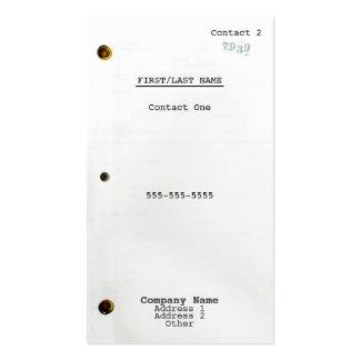 Screenwriter Business Card